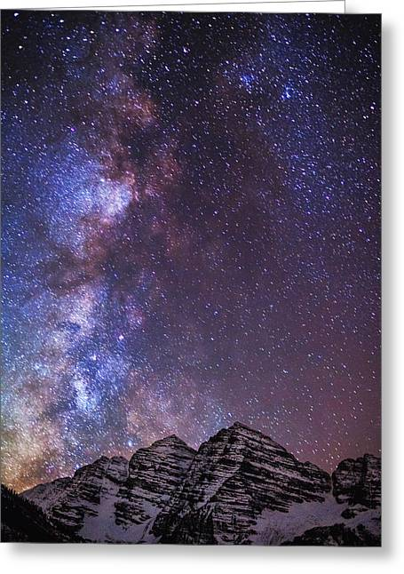 Dark Skies Greeting Cards - Maroon Magic Greeting Card by Darren  White