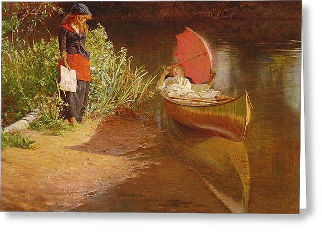 Marooned Greeting Card by Edward John Gregory