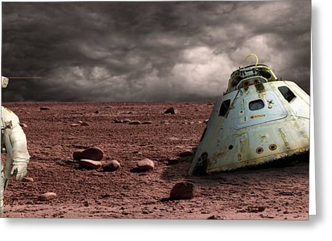 Capsule Greeting Cards - Marooned No.3pano Greeting Card by Marc Ward