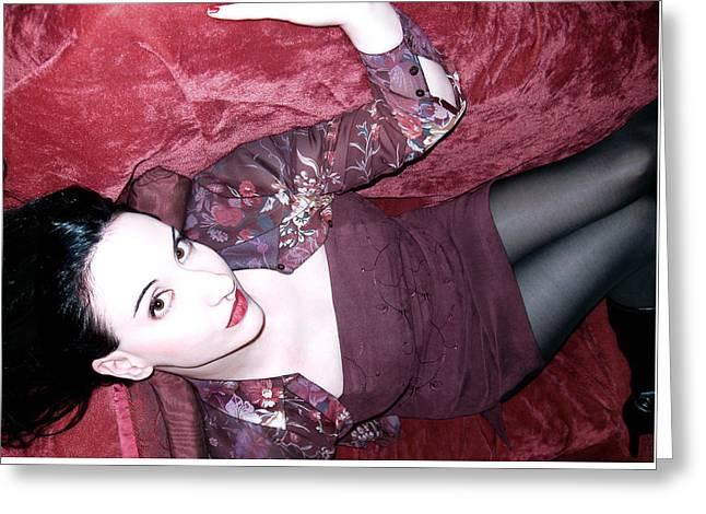 Self-portrait Photographs Greeting Cards - Marooned - Self Portrait Greeting Card by Jaeda DeWalt