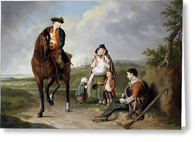 Charity Paintings Greeting Cards - Marquess Of Granby Relieving A Sick Greeting Card by Edward Penny