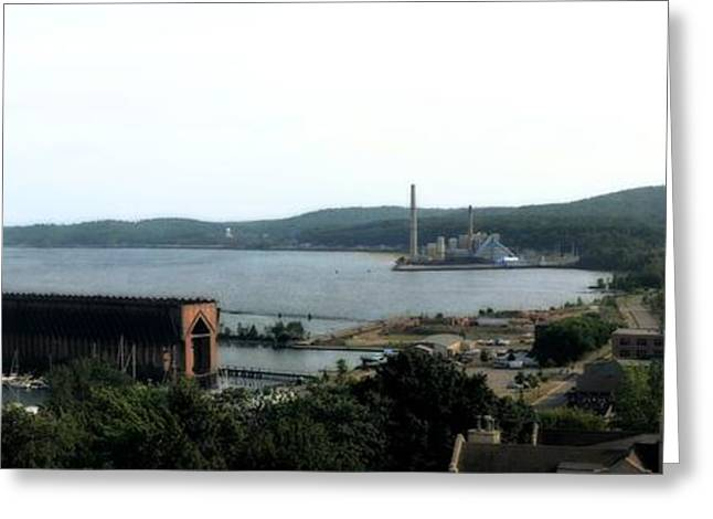 Iron Greeting Cards - Marquette Michigan Greeting Card by Michelle Calkins