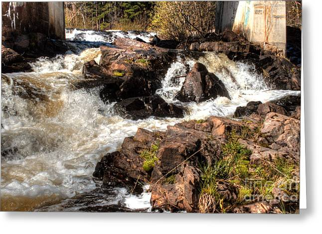 Unfettered Greeting Cards - Marquette Rushing Waters 1 Greeting Card by Deborah Smolinske