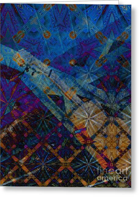 Offshoot Greeting Cards - Marquis in Cobalt and Copper Greeting Card by CR Leyland