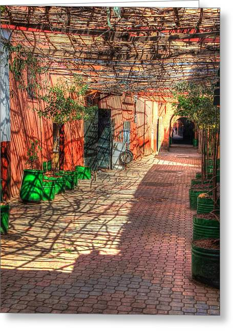 Marrakech Greeting Cards - Marrakech Medina Greeting Card by Sophie Vigneault