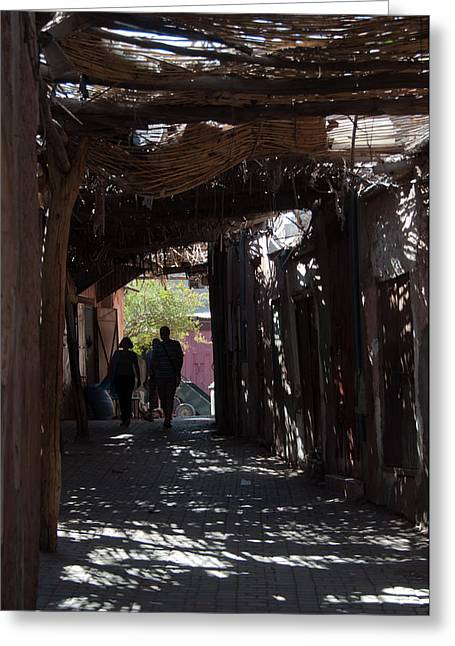 Local Food Places Greeting Cards - Marrakech Souk Greeting Card by Frank Gaertner
