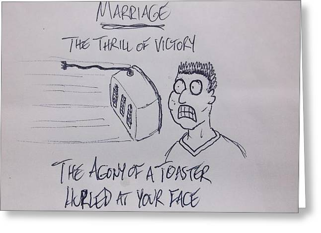 Toaster Drawings Greeting Cards - Marriage Greeting Card by Kyle Franks
