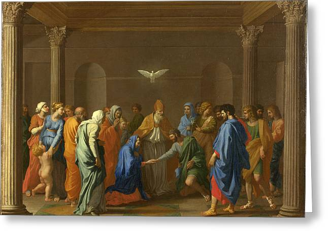 Poussin Greeting Cards - Marriage Greeting Card by Nicolas Poussin