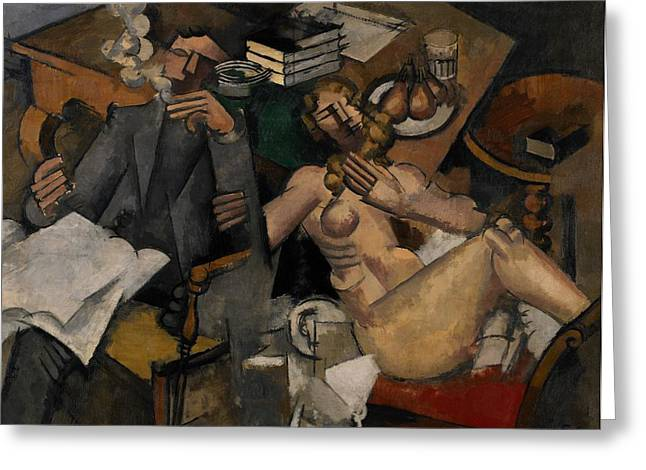 Smoker Greeting Cards - Married Life Greeting Card by Roger de la Fresnaye