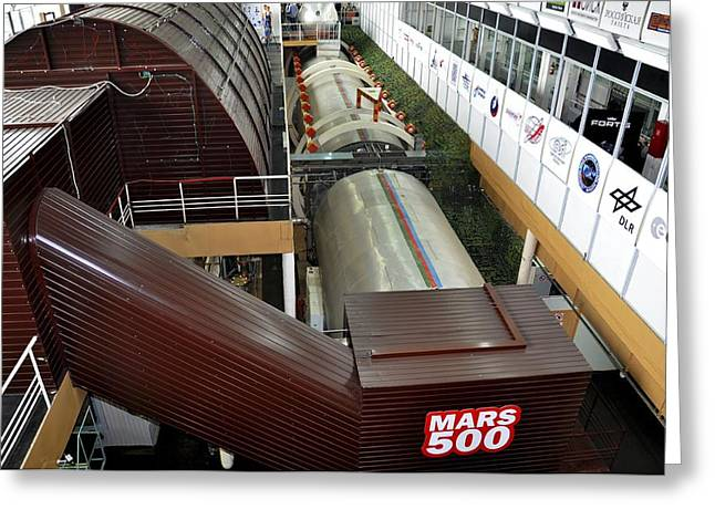 Psychological Space Greeting Cards - Mars-500 facility, exterior view Greeting Card by Science Photo Library