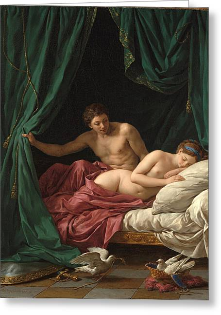 Francois Greeting Cards - Mars and Venus. Allegory of Peace  Greeting Card by Louis-Jean-Francois Lagrenee