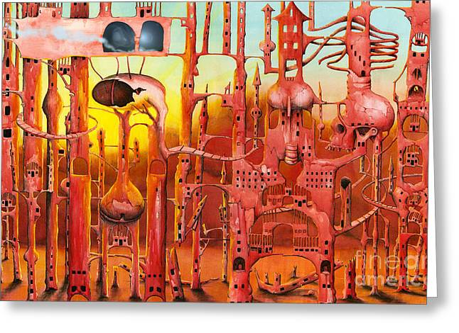 Imagination Greeting Cards - Mars Greeting Card by Colin Thompson