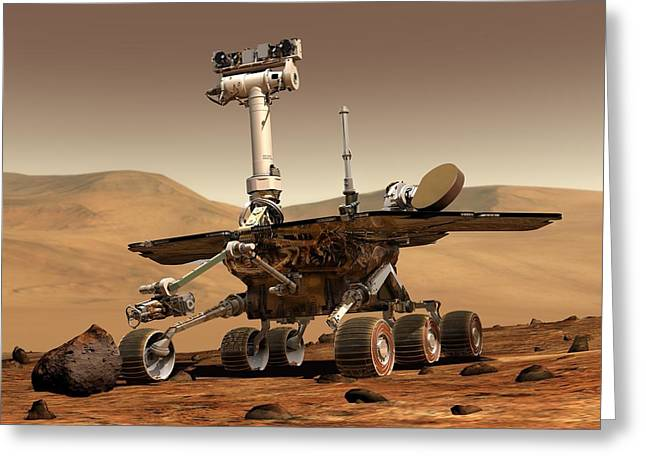 Outer Space Mixed Media Greeting Cards - Mars Rover Greeting Card by Mountain Dreams