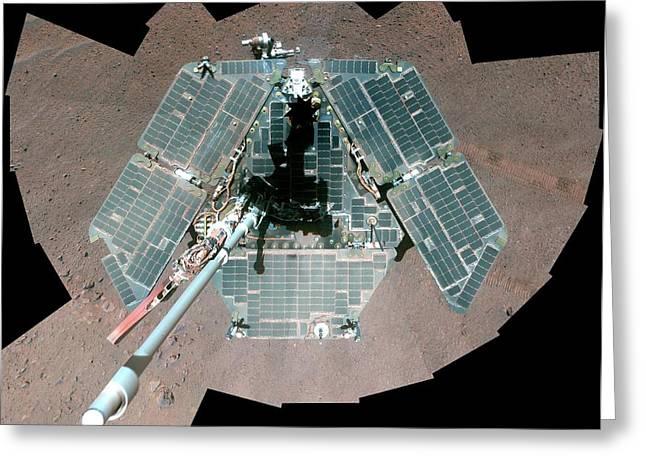 Mars Rover Opportunity Greeting Card by Nasa/jpl-caltech/cornell University/arizona State University