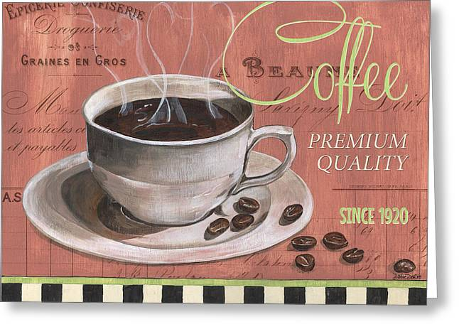 Hot Shop Greeting Cards - Marsala Coffee 1 Greeting Card by Debbie DeWitt