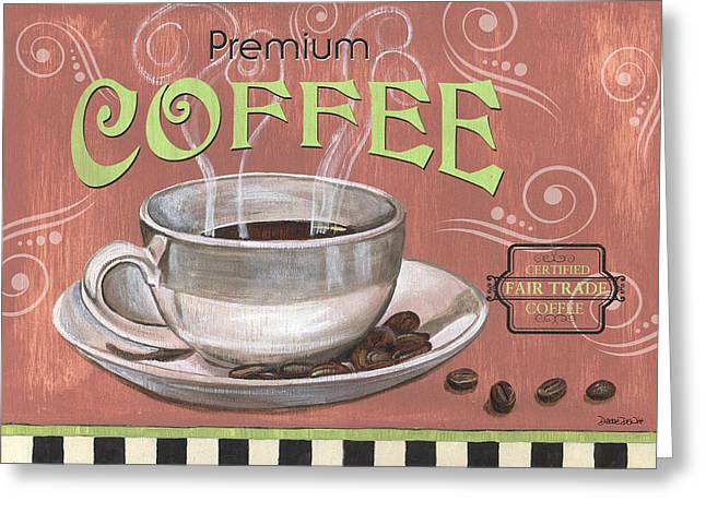 Retro Typography Greeting Cards - Marsala Coffee 2 Greeting Card by Debbie DeWitt