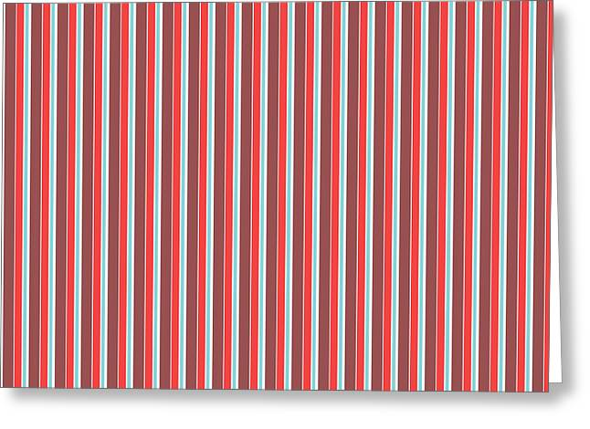 Fresh Mixed Media Greeting Cards - Marsala Stripe 2 Greeting Card by Linda Woods
