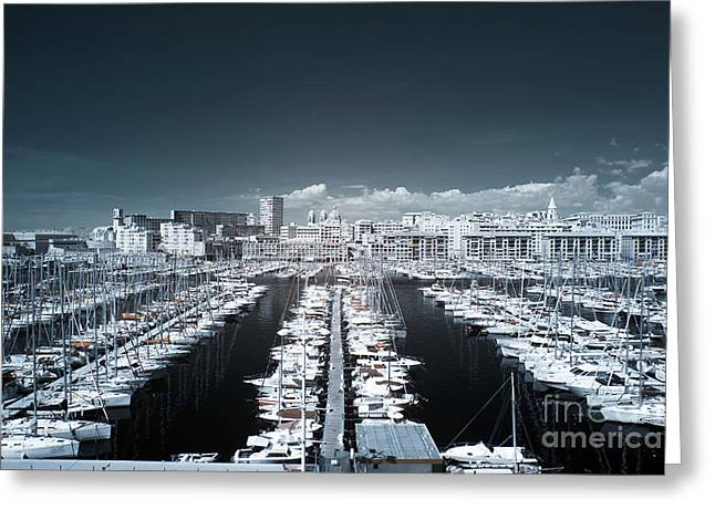 Azur Greeting Cards - Marseille Blues Greeting Card by John Rizzuto