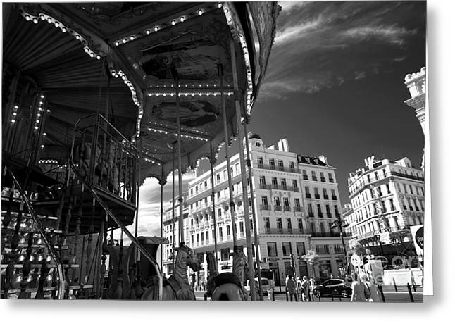 D.w Greeting Cards - Marseille Carousel View Greeting Card by John Rizzuto