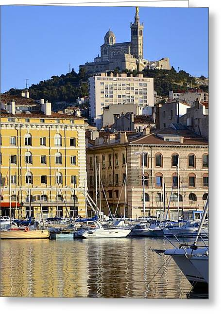 South Of France Greeting Cards - Marseille Greeting Card by Corinne Rhode