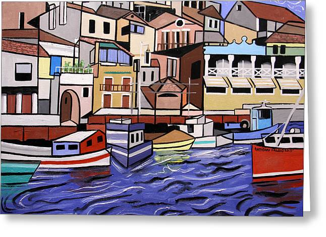 Seascape Canvas Greeting Cards - Marseille France Greeting Card by Anthony Falbo