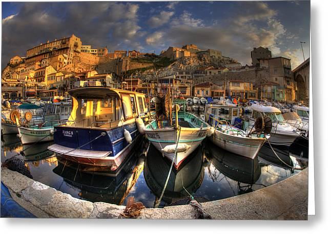 5d Greeting Cards - Marseille Greeting Card by Karim SAARI