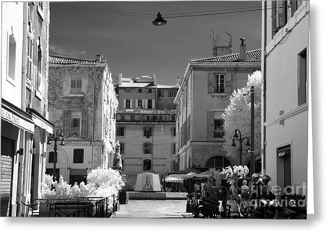 D.w Greeting Cards - Marseille Street View Greeting Card by John Rizzuto
