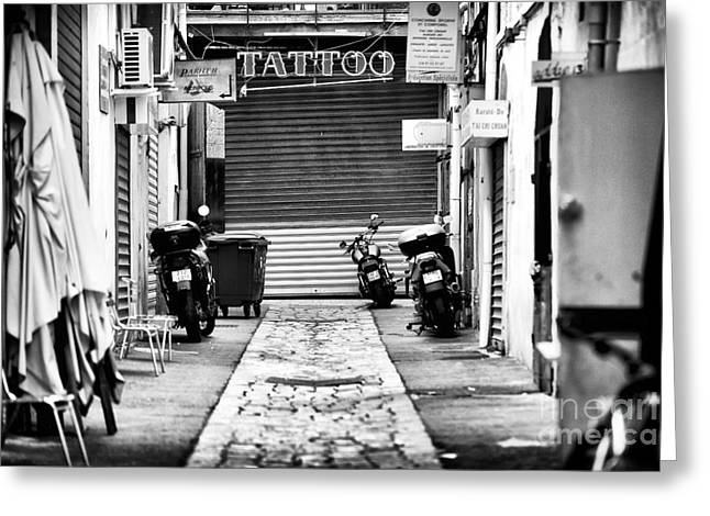 Old School Tattoos Greeting Cards - Marseille Tattoo Greeting Card by John Rizzuto