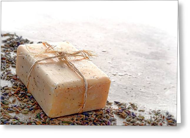 Twine Greeting Cards - Marseilles Bath Soap Greeting Card by Olivier Le Queinec