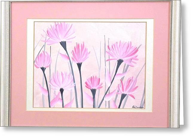 Artisan Made Greeting Cards - Marsh Flowers Greeting Card by Ron Davidson