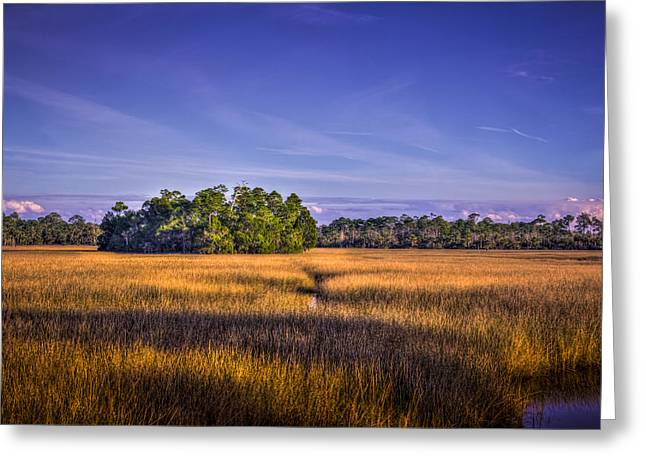 Skys Greeting Cards - Marsh Hammock Greeting Card by Marvin Spates
