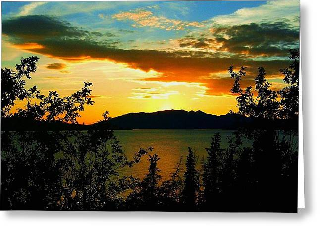 Sonne Greeting Cards - Marsh Lake - Yukon Greeting Card by Juergen Weiss