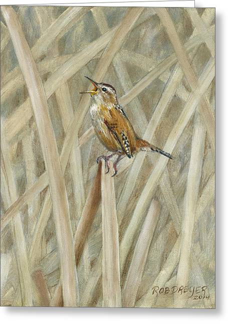 Marsh Melody Greeting Card by Rob Dreyer AFC