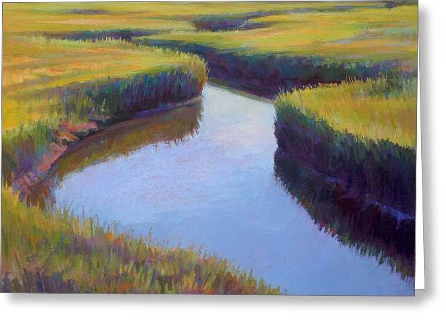 Cape Cod Pastels Greeting Cards - Marsh Rythmn Greeting Card by Ed Chesnovitch
