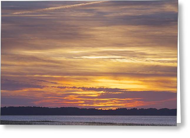Marsh Sunset Greeting Card by Phill  Doherty