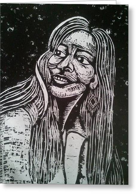 Artist Reliefs Greeting Cards - Marsha Gomez Greeting Card by Jane Madrigal