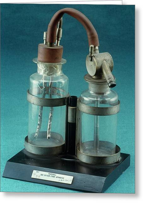 Marshal Gas-oxygen-ether Apparatus Greeting Card by Science Photo Library