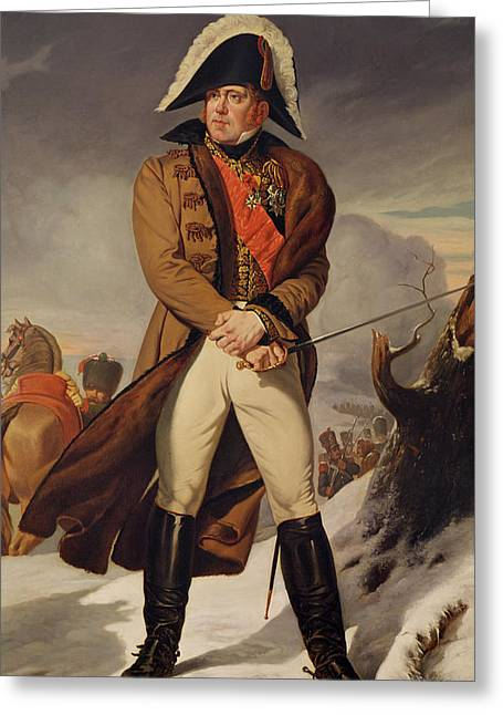 Marechal Greeting Cards - Marshal Michel Ney 1769-1815 Duke Of Elchingen Oil On Canvas Greeting Card by Eugene Battaille