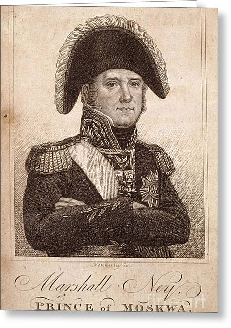 Bravery Greeting Cards - Marshal Ney Greeting Card by British Library