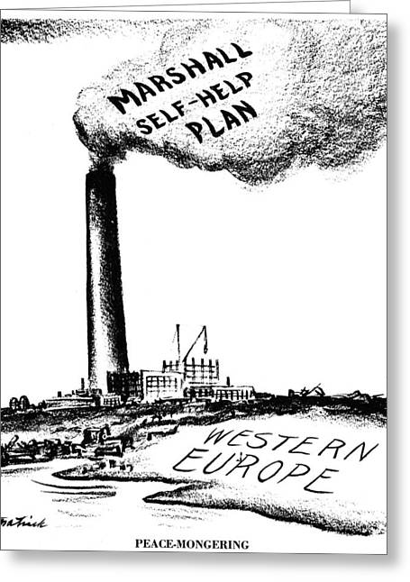 Political-economic Greeting Cards - Marshall Plan, 1947 Greeting Card by Granger