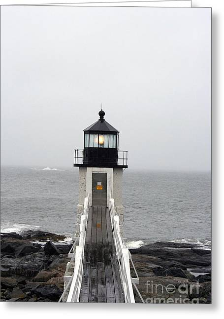 Christiane Schulze Greeting Cards - Marshall Point Light On A Foggy Day Greeting Card by Christiane Schulze Art And Photography