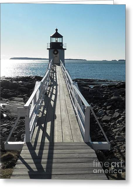Cape Neddick Greeting Cards - Marshall Point Lighthouse 2 Greeting Card by Joseph Marquis