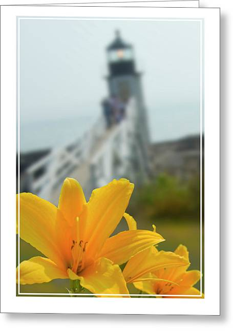 Maine Lighthouses Digital Greeting Cards - Marshall Point Lighthouse  Greeting Card by Mike McGlothlen