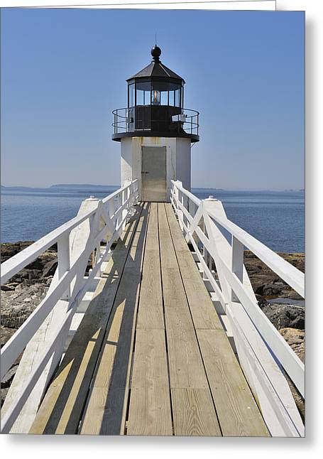 Maine Icons Greeting Cards - Marshall Point Lighthouse Port Clyde Maine Greeting Card by Marianne Campolongo