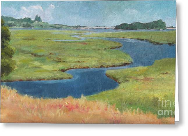 Marshes at High Tide Greeting Card by Claire Gagnon