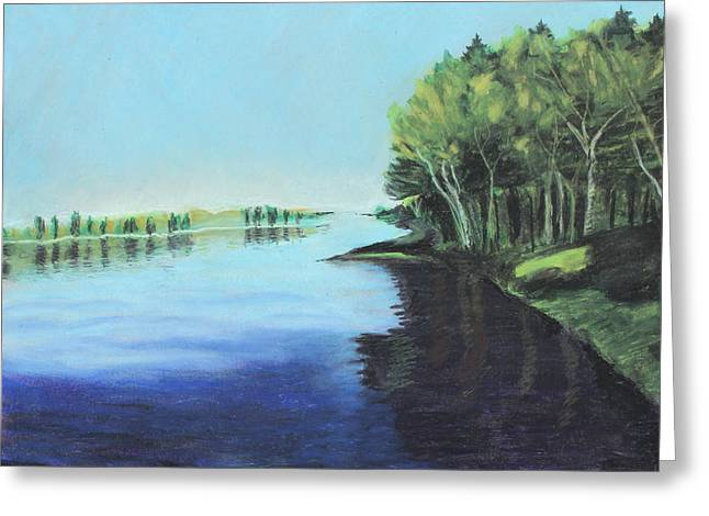 Serene Pastels Greeting Cards - Marshland 2 Greeting Card by Jeanne Fischer