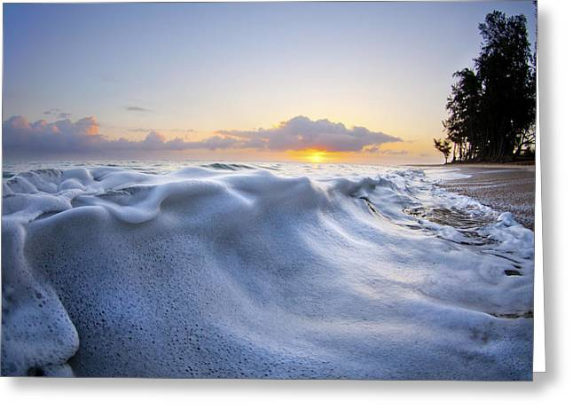 Ocean Art Photography Greeting Cards - Marshmallow Tide Greeting Card by Sean Davey