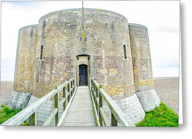 Aldeburgh Greeting Cards - Martello Tower Aldeburgh Suffolk Greeting Card by Richard Jemmett