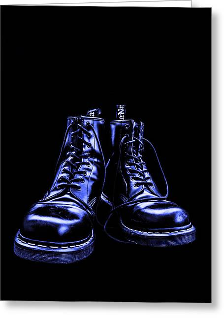 Provocation Greeting Cards - Martens - Blue Greeting Card by Lubos Kavka