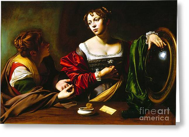 Martha And Mary Magdalene Greeting Card by Pg Reproductions
